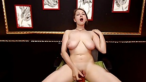 Dildo Fun On The Chair