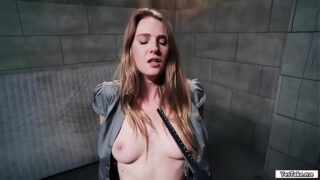 Ashley Lane fucked while her hands tied