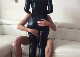 His first Anal Fetish Latex Sex with cheap whore