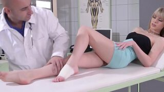 Doc fucks patient Bianka Brill's sexy feet after banging her